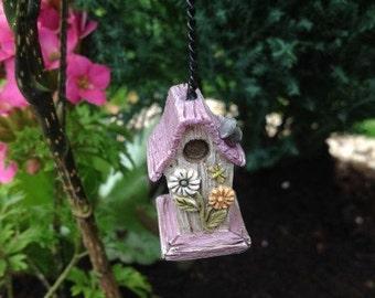 Fairy Garden  - Daisy Birdhouse - Miniature