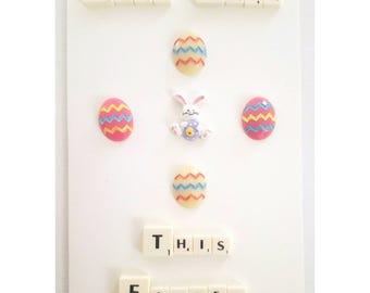 Easter card, Happy Easter, Easter egg, Easter Bunny, Personalized card