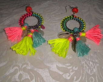 A tassels earrings