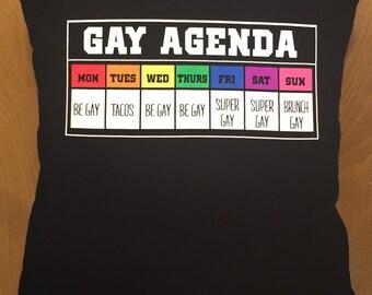 Gay Agenda throw pillow