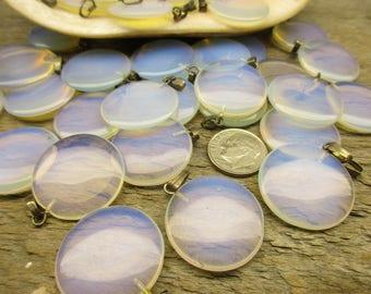 Opalite Pendants, 5 Pieces