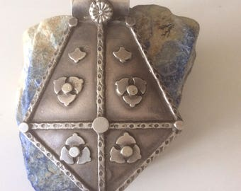 Vintage RajhastanPendant , Necklace , Afghanistan Old Jewelry  Tribe old silver , collectible pendant.......