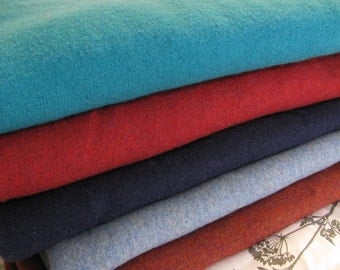 Hand Made Vintage Caribbean Turquoise Boiled Wool Fabric
