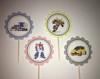 Transformers - 12 cupcake toppers