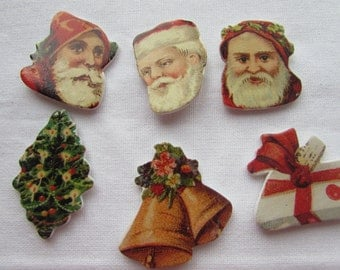 Traditional Wooden Christmas Stickers