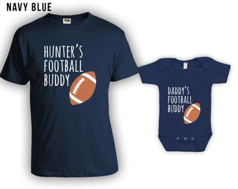 Football buddies matching tshirt set, matching father son, father daughter t-shirts, father's day gift, birthday gift, Bodysuit CT-923-924
