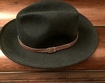 Hat vintage Made in France in wool black