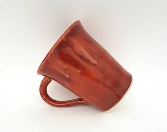 Handmade Ceramic Mug - Pottery Mug - Red and Orange - Stoneware Mugs - Coffee Mugs - Tea Mugs - Handmade Gift - Birthday - Housewarming Gift