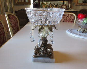 CRYSTAL COMPOTE on MARBLE Base