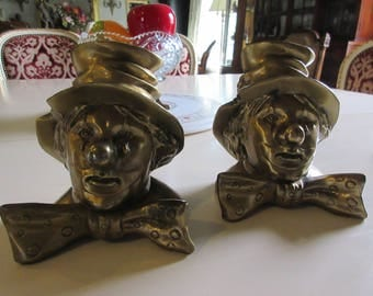 FLORIDA PM Craftsman Clown Bookends
