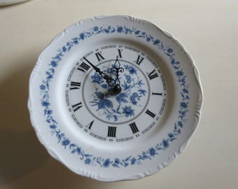 BLUE and WHITE CLOCK Wall Hanging
