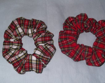 NEW Tartan Hair Scrunchies