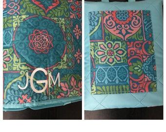 Monogram Blanket/ Monogram Beach Blanket/ Water Repelant Blanket/ Picnic Blanket