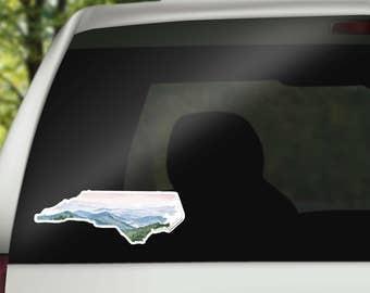 North Carolina Vinyl Sticker - North Carolina State Decal - NC Sticker - NC Decal - NC Vinyl Sticker - Home State Decal - Carolina Decal