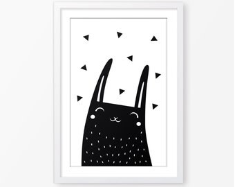 Kids room wall decor,animal print,instant download,monochrome poster,black and white poster,modern poster,scandinavian style,nursery decor