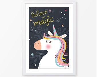 Kids poster,baby poster,kids room decor,nursery poster,unicorn poster,inspirational quote,nursery decor,children wall art,kids wall decor