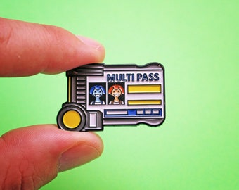 "LEELOODALLASMULTIPASS 1.5"" Fifth Element Enamel Pin"