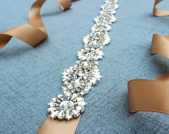 Crystal Wedding Sash Bridal Belts and Sashes Rhinestone Bridal Belt  Silver Wedding Belt Sash  Bridesmaid Dress Belt Wedding Dress Belt
