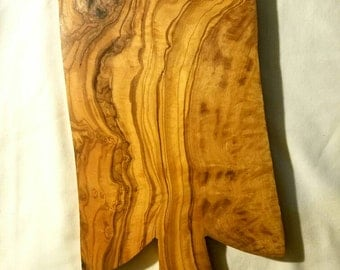 Hand Crafted 100% Natural Tunisian Olive Wood Cutting Board