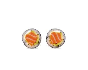 Sushi Stud Earrings - Sushi Earrings - Hypoallergenic Surgical Steel Stud Earrings - Food Jewelry Earrings - Sushi Accessories - Studs