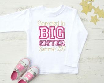 Promoted to Big Sister Shirt | Big Sister Shirt | Big Sister T Shirt | Big Sister Announcement | Varsity Promoted to Big Sister Top