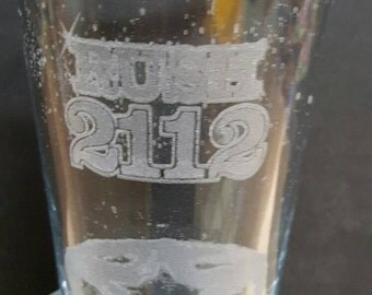 Rush - 2112 - Laser Etched Pint Glass