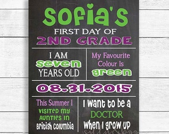 First Day of School Chalkboard, 1st Day of School Sign, Back to School Sign, School Chalkboard, DIGITAL FILE ONLY