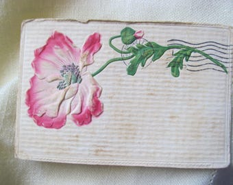Vintage Used Poppy Postcard - 1907