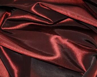 "Burgundy Taffeta Fabric | Faux Silk Taffeta Fabric | Fabric By The Yard 58""/60"""