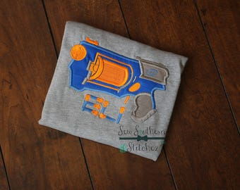 Nerf Gun Applique Design ~ Foam Bullets included ~ Instant Download