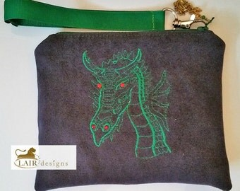 Dragon Head Wristlet with Detachable Handle