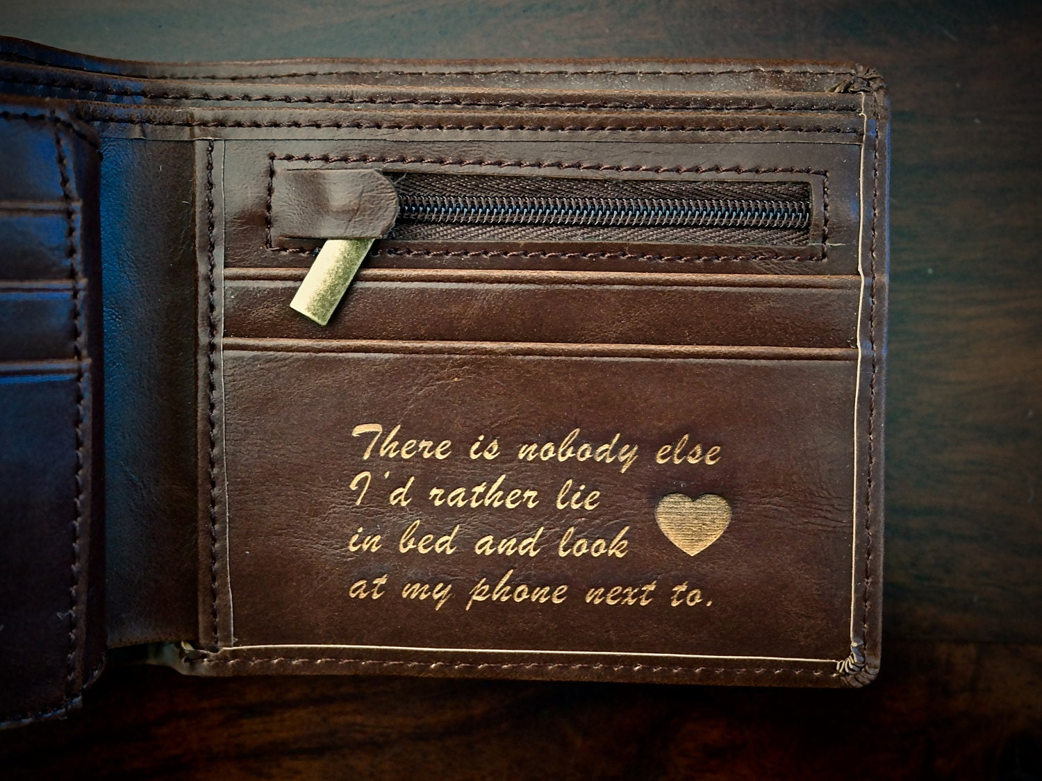 Valentines Day Gift For Him Mens Leather Wallet