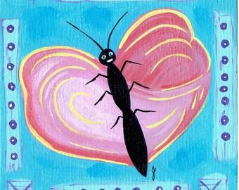 Happy Butterfly Heart