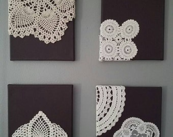 Upcycled Doily Wall Decor