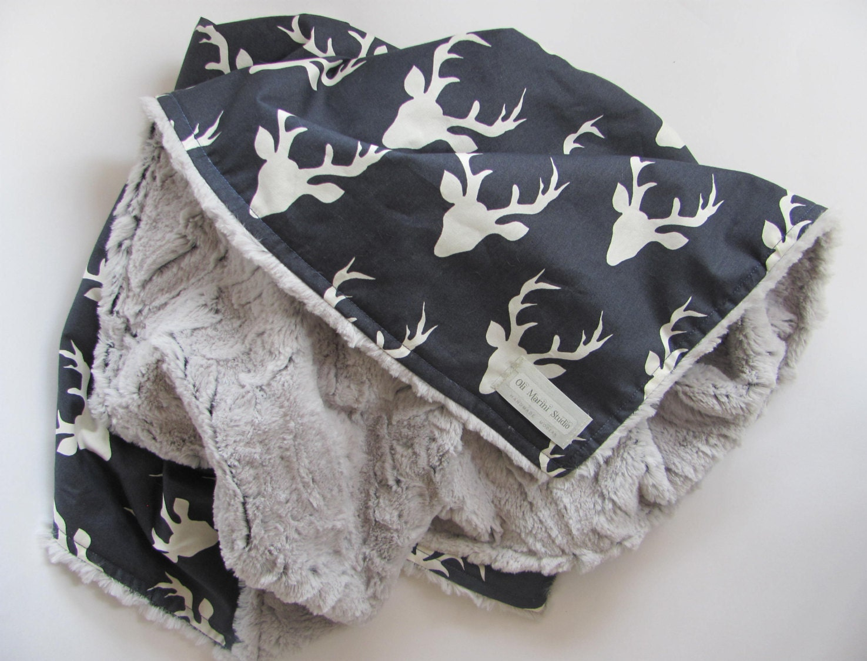 Baby Boy Blanket Baby Nursery Deer Minky Blanket Buck Plush