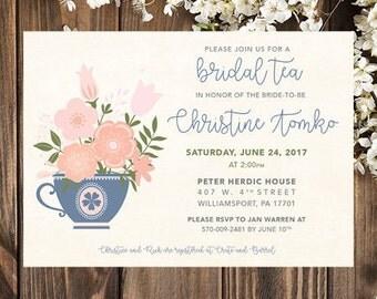 Bridal Tea Party Invitations | Bridal Tea Invitations | Bridal Tea Party | Bridal Shower Tea Party Invitations | Bridal Shower Tea Party