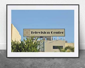 TV Center, DIGITAL Download, Typography Print, LA Photography, Art Deco Photo, Travel Print, Hipster Print, Kitch Print, Printable Art, Art
