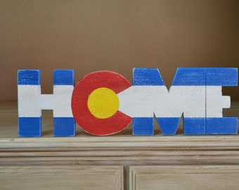 HOME Sign, Colorado,  Aged Cedar
