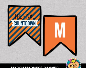 March Madness Banner. Basketball Bunting. Final Four Party Banner.  *DIGITAL DOWNLOAD*