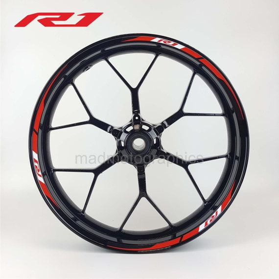 yamaha yzf r1 2015 oem style motorcycle wheel stickers decal. Black Bedroom Furniture Sets. Home Design Ideas