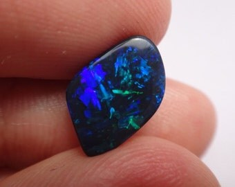 """Amazing Stone!! with Unique Straw Pattern 2.5 CT """"Star Wars"""" Solid Natural Lightning Ridge Australian Black Opal - Watch VIDEO in HD!!"""