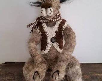 Needlefelted Timothy Hare