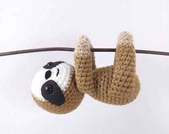 PATTERN: Crochet sloth pattern - amigurumi sloth pattern - crocheted sloths pattern - PDF crochet pattern - English only