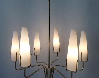 Elegant Mid Century Modern | Sputnik | 6-Armed CHANDELIER | PENDANT LAMP | Ceiling Light | 1950s