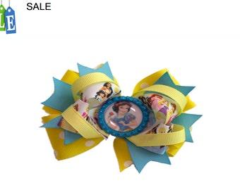 Snow White Disney Princess hair bow, character printed grosgrain ribbon, girls hair bow, Kids hair bow