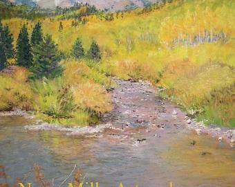 Gentle Stream Pastel Painting Print