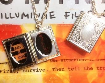 Illuminae quote necklace