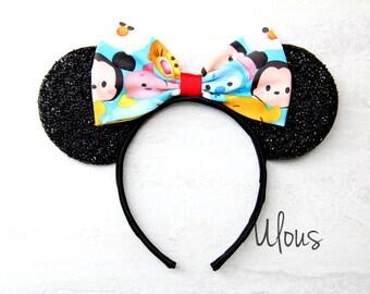 Tsum Tsum Mickey Ears, Tsum Tsum Minnie Ears, Tsum Tsum Ears, Tsum Tsum Mouse Ears, Mickey Ears, Minnie Ears, Custom Mickey Ears, Mouse Ears
