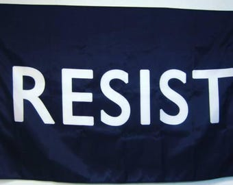 RESIST Screen-printed Flag (Various Sizes)