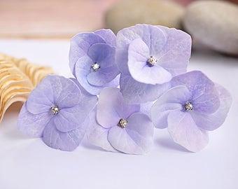 Purple wedding accessory Hydrangea Purple Lilac Hydrangea Hair Pin Wedding hair pin Bride flower pin bridal jewelry wedding hair jewelry
